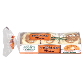 Thomas English Muffin Nutrition Label