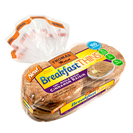 Thomas'® 100% Whole Wheat Cinnamon Raisin Breakfast Thins™ Rounds