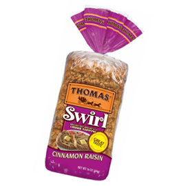 Thomas'® Cinnamon Raisin Swirl Toasting Bread