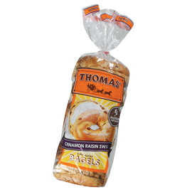 Thomas'® Cinnamon Raisin Swirl Bagels