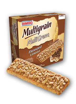 Barra Multigrano Linaza - Multigrain with Flaxseed Bars Nutrition Label