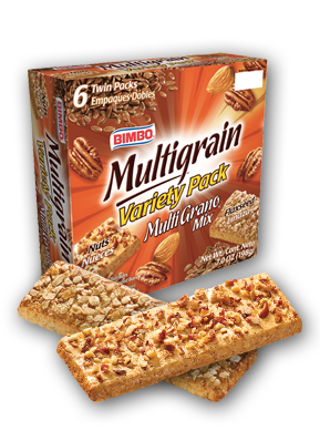 Barras Multigrano Mix - Mixed Multigrain (Nut & Flaxseed) Bars Nutrition Label
