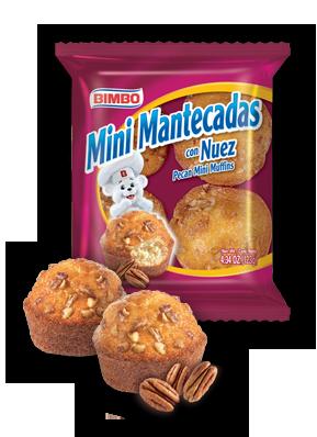 Mini Mantecadas - Pecan Mini Muffins Nutrition Label