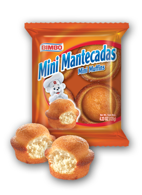 Mini Mantecadas - Mini Muffins Nutrition Label