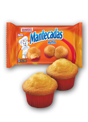 Mantecadas - Muffins Nutrition Label