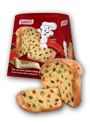 Panettone - Fruit Cake Nutrition Label