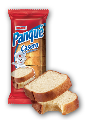 Panque Casero - Home Style Pound Cake Nutrition Label
