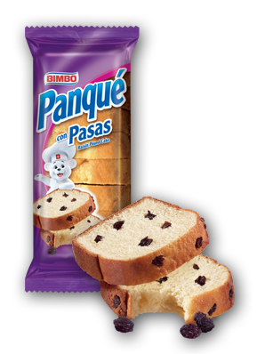 Panque con Pasas - Raisin Pound Cake Nutrition Label