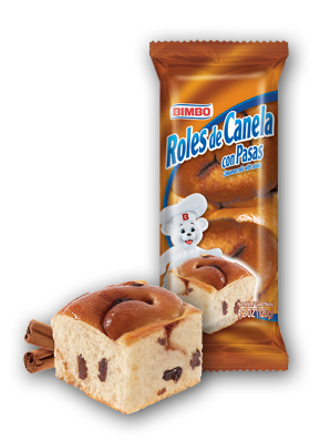 Roles de Canela - Cinnamon Rolls with Raisins Nutrition Label